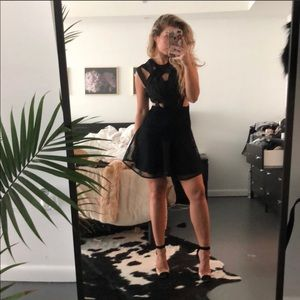 Nasty Gal Black Strappy short dress Small NWT